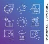 digital marketing tablet and... | Shutterstock .eps vector #1899169852