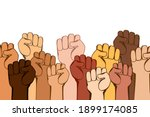 hands with fists are a symbol... | Shutterstock .eps vector #1899174085