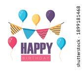 happy birthday badge with... | Shutterstock .eps vector #1899181468