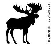 Vector Icon Moose Silhouette....