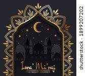 isra miraj celebration greeting ... | Shutterstock .eps vector #1899207202