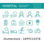 set of line icons of clinic ... | Shutterstock .eps vector #1899214378