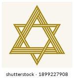 triangle linear vector symbol... | Shutterstock .eps vector #1899227908