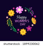 happy women s day card with... | Shutterstock .eps vector #1899230062