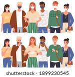 group of people wearing medical ... | Shutterstock .eps vector #1899230545