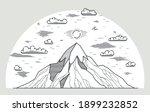 mountains range linear vector... | Shutterstock .eps vector #1899232852