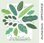 greeting card with fresh green... | Shutterstock .eps vector #1899234418