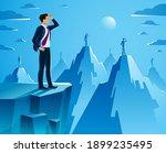 businessman looking for... | Shutterstock .eps vector #1899235495