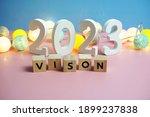 vision 2023 word alphabet... | Shutterstock . vector #1899237838