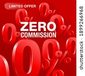 0 means free   zero commission... | Shutterstock .eps vector #1899266968