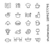 simple icon food on white... | Shutterstock .eps vector #1899277795