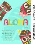hawaiian luau party | Shutterstock .eps vector #189929465