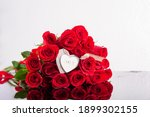 Bouquet Of Red Roses With...