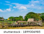 The Wooden Bridge With Rice...