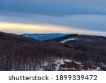 K Szeg Hills In Sunset Winter...