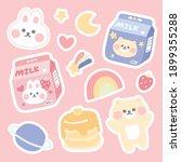 cute sticker in pastel concept...   Shutterstock .eps vector #1899355288