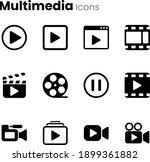 multimedia video player icon set   Shutterstock .eps vector #1899361882