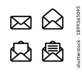 email envelope icon. message... | Shutterstock .eps vector #1899365095