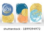 abstract cover template. set of ... | Shutterstock .eps vector #1899394972
