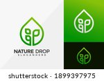 nature drop plant logo design ...   Shutterstock .eps vector #1899397975