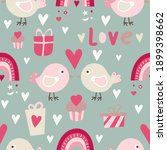 seamless pattern for valentines ... | Shutterstock .eps vector #1899398662