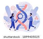 biotechnology concept. tiny... | Shutterstock .eps vector #1899405025