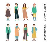 cartoon color character fashion ... | Shutterstock .eps vector #1899416095