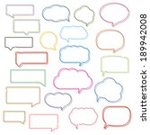 colored line speech bubbles...