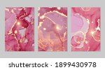 shiny magenta and gold stone... | Shutterstock .eps vector #1899430978