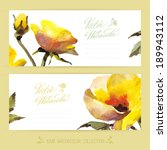 vector banners with watercolor...   Shutterstock .eps vector #189943112