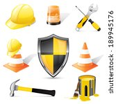 construction icons  | Shutterstock .eps vector #189945176