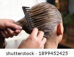 Hairdresser Doing Treatment...
