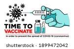 hand of doctor or nurse in...   Shutterstock .eps vector #1899472042