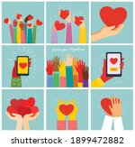 all you need is love. hands and ...   Shutterstock .eps vector #1899472882