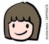 vector of girl   Shutterstock .eps vector #189950678