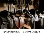 Leather Saddle  Harness For...