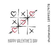 happy valentines day. hearts.... | Shutterstock .eps vector #1899517978