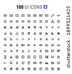 pack of 100 ui icons 2  line...