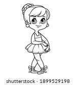 beautiful ballerina girl in... | Shutterstock .eps vector #1899529198
