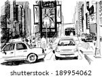 times square in new york city... | Shutterstock .eps vector #189954062