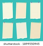 torn sheets of paper. a set of... | Shutterstock .eps vector #1899550945