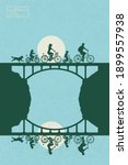people on bikes. cyclists... | Shutterstock .eps vector #1899557938