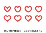 heart linear icon. valentine's... | Shutterstock .eps vector #1899566542