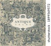 vector banner or antique frame... | Shutterstock .eps vector #1899569572