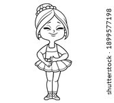 beautifu cartoon ballerina girl ... | Shutterstock .eps vector #1899577198