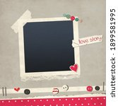 scrapbook love card with photo... | Shutterstock .eps vector #1899581995