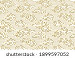 seamless pattern in oriental... | Shutterstock .eps vector #1899597052