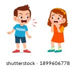Little Boy Angry And Shout To...