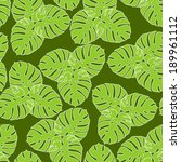 vector tropical seamless floral ... | Shutterstock .eps vector #189961112
