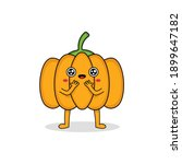 cute pumpkin cartoon character... | Shutterstock .eps vector #1899647182
